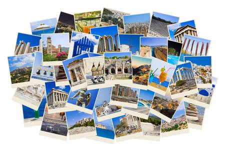 grecia antigua: Pila de tomas de Grecia - naturaleza y viajes de fondo (mis fotos) Foto de archivo