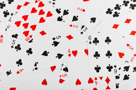 Playing cards - abstract gambling background photo