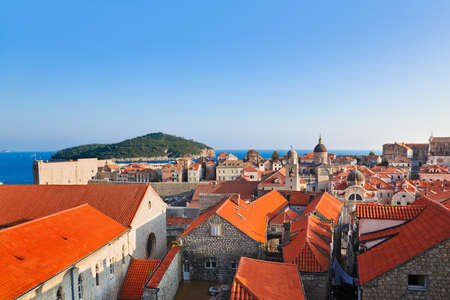 Town Dubrovnik in Croatia - architecture background photo