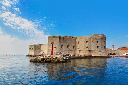 croatia dubrovnik: Fort at town Dubrovnik in Croatia - architecture background