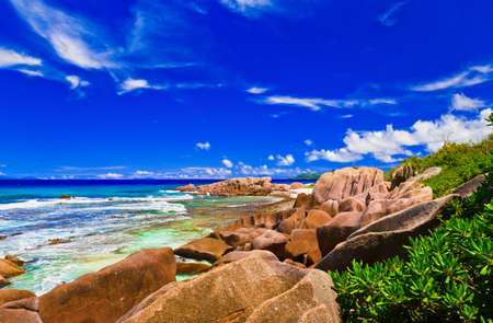 anse: Tropical beach at Seychelles - vacation nature background