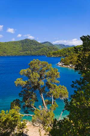 Lake at island Mljet in Croatia - nature background photo