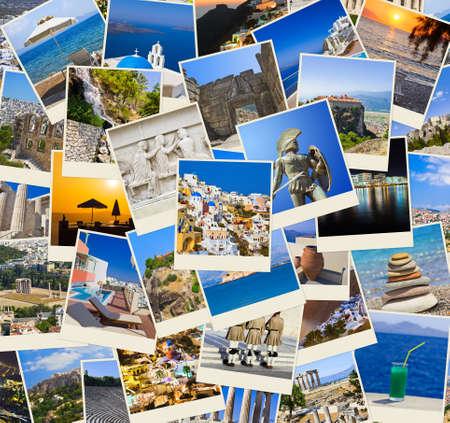 antigua grecia: Pila de tomas de Grecia - naturaleza y viajes de fondo (mis fotos) Foto de archivo