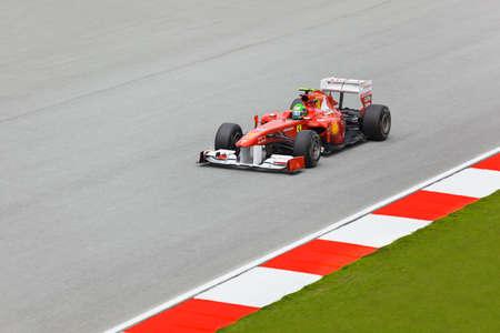 gp: SEPANG, MALAYSIA - APRIL 8: Felipe Massa (team Scuderia Ferrari Marlboro) at first practice on Formula 1 GP, April 8 2011, Sepang, Malaysia