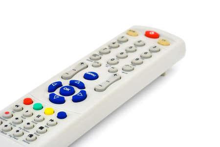 Telecomando TV isolato su sfondo bianco