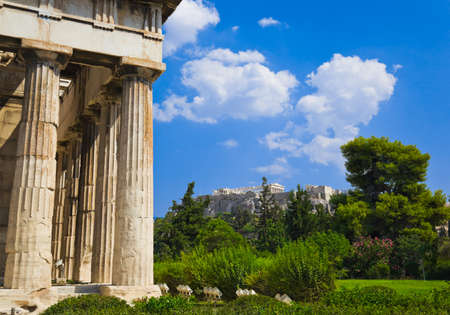 Ancient Agora at Athens, Greece - travel background photo