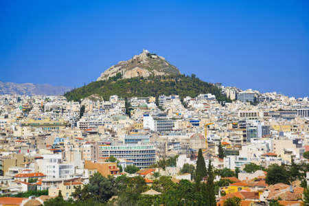 Lycabettus hill at Athens, Greece - travel background photo