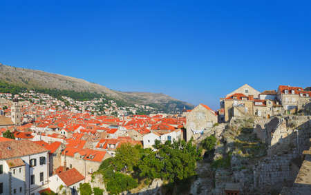 Panorama of Dubrovnik in Croatia - architecture background photo