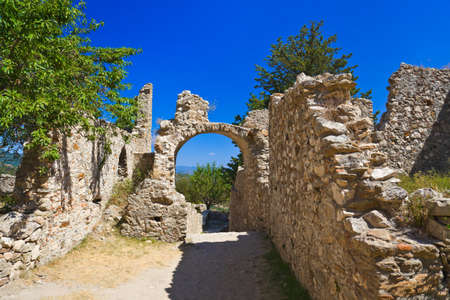 Ruins of old town in Mystras, Greece - archaeology background Stock Photo - 10587516