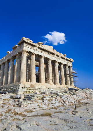 Parthenon temple in Acropolis at Athens, Greece - travel background photo