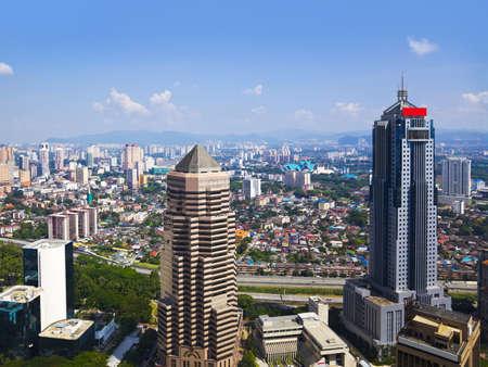 twin house: Kuala Lumpur (Malaysia) city view - architecture background