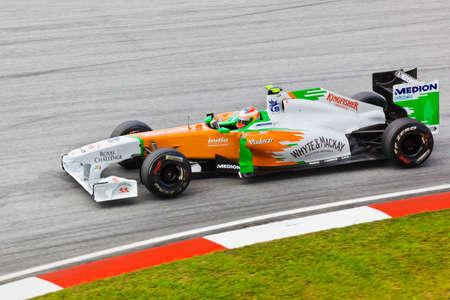 SEPANG, MALAYSIA - APRIL 8: Paul Di Resta (team Force India) at first practice on Formula 1 GP, April 8 2011, Sepang, Malaysia