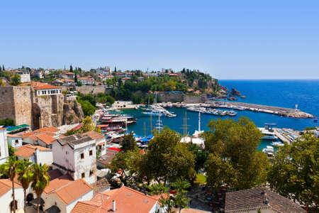turkey beach: Old town Kaleici in Antalya, Turkey - travel background Stock Photo