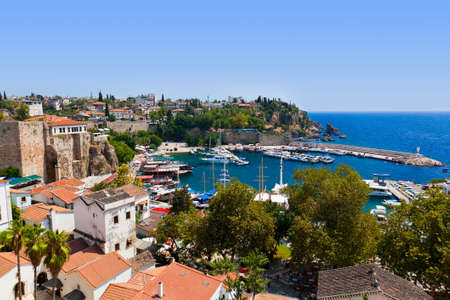 Old town Kaleici in Antalya, Turkey - travel background Stock Photo