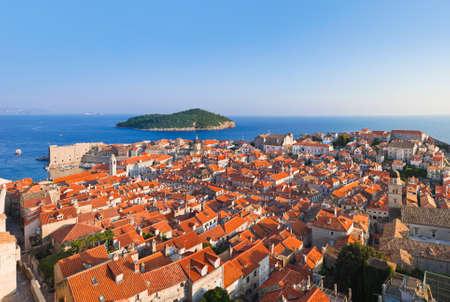 croatia dubrovnik: Panorama of Dubrovnik in Croatia - architecture background Stock Photo