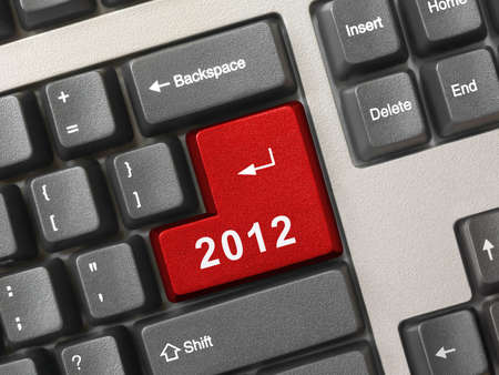 Computer keyboard with 2012 key - holiday concept photo