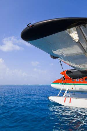 airscrew: Sea plane at Maldives - transportation background