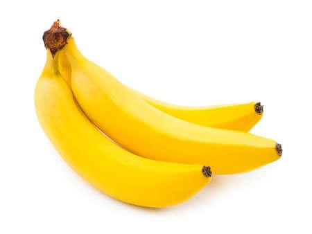 banane: Bouquet de bananes isol�es sur fond blanc