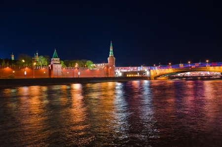 Kremlin in Moscow (Russia) at night photo
