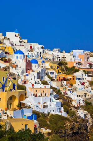 Santorini view (Oia), Greece - vacation background photo