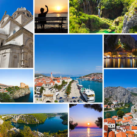 Collage of Croatia travel images - nature and tourism background (my photos) photo
