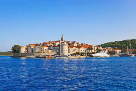 Town Korcula at Croatia - architecture background photo