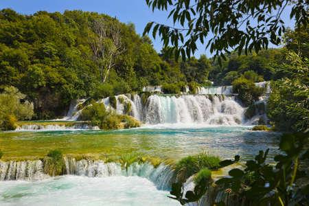 plitvice: Waterfall KRKA in Croatia - nature travel background