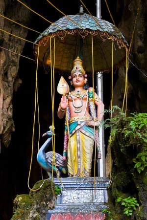 Statue of hindu god at Batu caves, Kuala-Lumpur, Malaysia photo