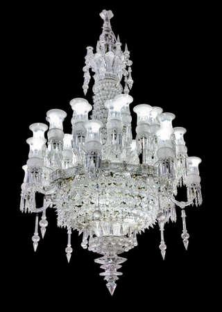 chandelier: Retro chandelier - isolated on black background