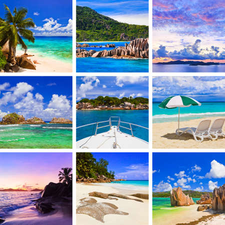 Collage of summer beach images  - nature and travel background (my photos) Stock Photo - 11801993