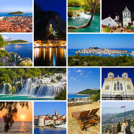 Collage of Croatia travel images - nature and tourism background (my photos)