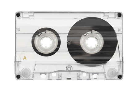 Audio cassette isolated on white background Stock Photo - 11910489