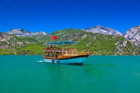 turkey beach: Green canyon at Turkey - nature travel background