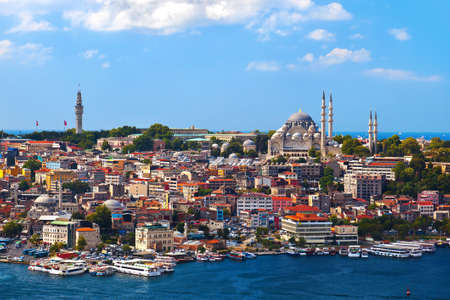 turkey istanbul: Istanbul view - Turkey travel architecture background