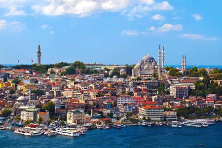 tacchino: Istanbul vista - sfondo viaggi Turchia architettura Archivio Fotografico