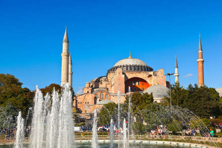 Hagia Sophia in Istanbul Turkey - architecture religion background