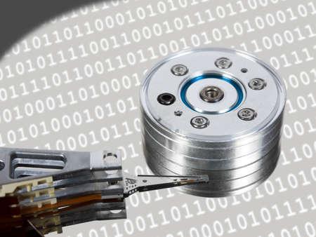 harddisk: Computer hard disk - technology background Stock Photo