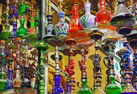 Hookah in souvenir shop at Istanbul Turkey photo