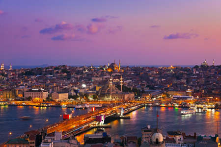 Istanbul sunset panorama - Turkey travel background photo