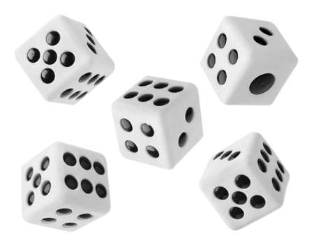 Gambling dices isolated on white background Stock Photo - 12003519
