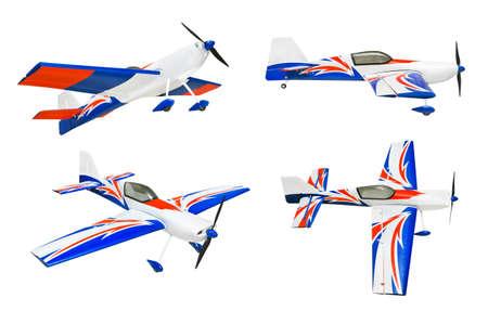 rc: 흰색 배경에 고립 된 RC 비행기 세트