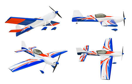Set of RC plane isolated on white background photo