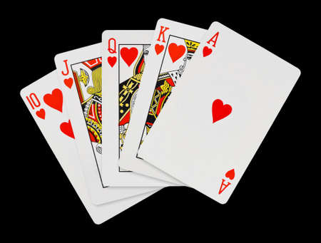jack of diamonds: Playing cards - isolated on black background