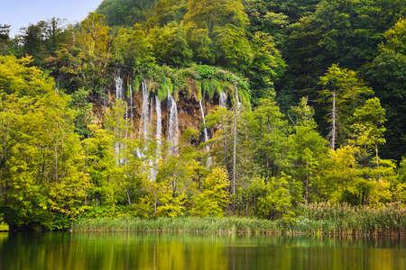 plitvice: Plitvice lakes in Croatia - nature travel background
