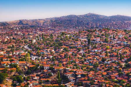 density: Old Ankara Turkey - architecture travel background
