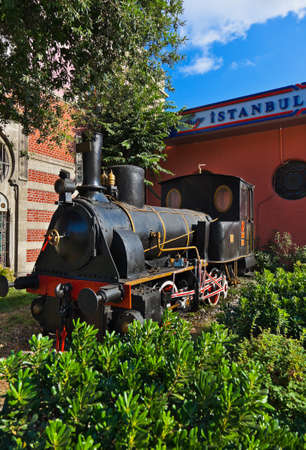 Statue of orient express at Istanbul - Turkey travel transportation background