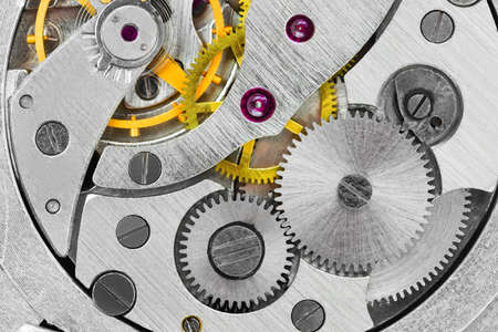 Macro of clock - abstract technology background Stock Photo - 12089208