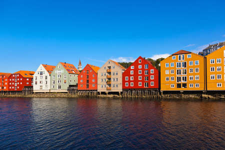 Cityscape of Trondheim, Norway - architecture background photo