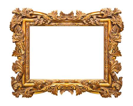 Retro frame isolated on white background Stock Photo
