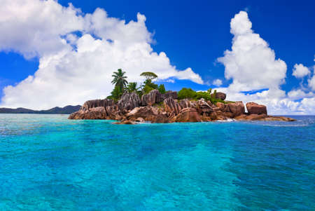 Tropical island at Seychelles - nature background photo